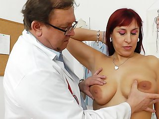 Enjoy that excellent milf Darja which is grinding in this addictive cunt with this nice gyno doctor