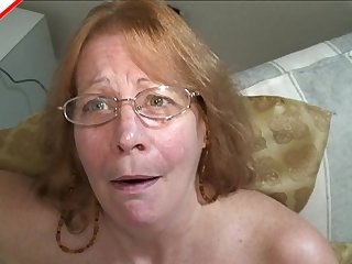 Old slut puts her dentures in and gives a great blowjob