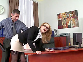 Kandall has hardcore sex with her boss