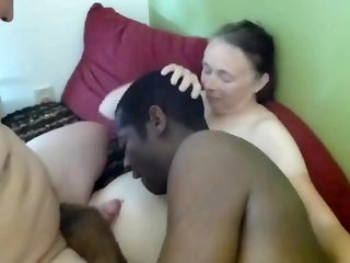 Interracial party and bi sucking