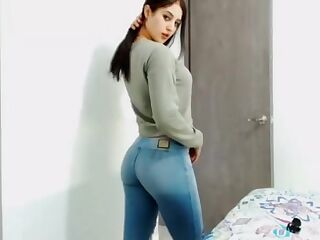 college girl in tight jeans without pocket