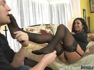 Brunette Bitch Uses Pegging To Dominate Her Men